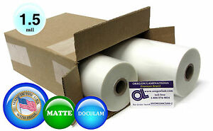 Doculam Hot Laminating Film 12 X 500 On 1 Core 1 5 Mil 2 Rolls Matte