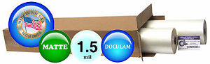 Doculam Hot Laminating Film 27 X 500 On 1 Core 1 5 Mil 2 Rolls Matte