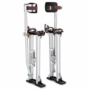 Drywall Stilts Aluminum Tool Stilt 24 40 Inch For Taping Painting Painter Silver
