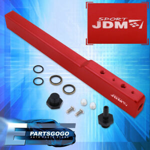 02 06 Acura Rsx Dc5 05 Civic Ep3 Aluminum High Flow Fuel Injector Rail Kit Red