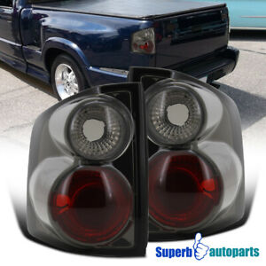 1994 2004 Chevy S10 Gmc Sonoma Replacement Tail Lights Rear Brake Lamps Smoke