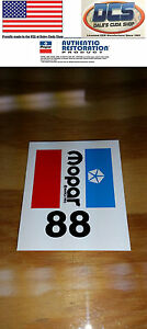1976 1983 Dodge Chrysler Plymouth Disc Brake Booster I D Decal 88 New Mopar Usa