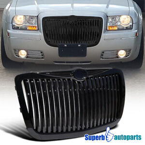 For 2005 2010 Chrysler 300 300c Vertical Front Grill Hood Grille Black