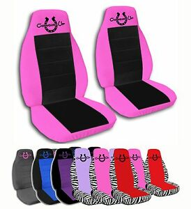 2 Front Cowgirl S Lucky Horseshoe Velvet Seat Covers With 17 Color Options