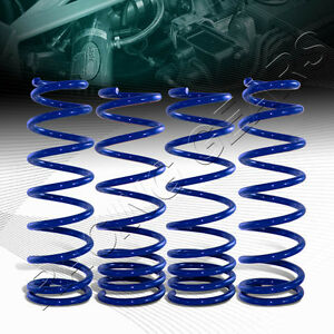 Suspension Blue Coil Lowering Lower Springs Kit Fit 92 95 Honda Civic Front Rear