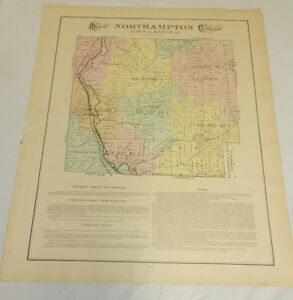 1891 Color Plat Map Summit County Oh Northampton Township