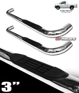 For 2002 2009 Dodge Ram Regular Cab 3 Chrome Side Step Nerf Bars Running Boards