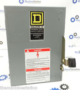Square D General Duty Electric Safety Switch D321n 240vac 3 phase 30 Amp