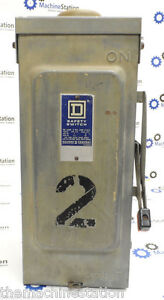 Square D Electrical Safety Switch 600vac 3 phase 30 Amp