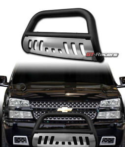 For 1999 Chevy Suburban Tahoe Matte Black Bull Bar Bumper Grille Guard Ss Skid