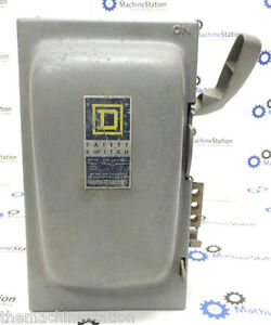 Square D Co Electric Safety Switch h361 600vac 3 phase 30 Amp