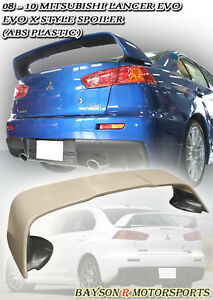 Mr style Rear Trunk Spoiler Wing abs Fits 08 17 Mitsubishi Evo 10 X