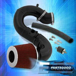 For 2012 2015 Honda Civic Si 2 4l Cold Air Induction Intake Black Red Filter