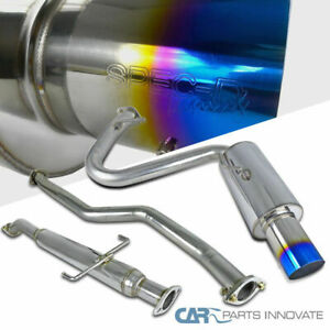 05 10 Scion Tc Titanium Burnt Tip Stainless Steel Catback Exhaust Muffler System