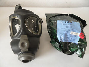 Scott M95 Full Face Respirator Nbc Gas Mask Swat Military Police Prepper Small