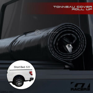 Lock Roll Soft Tonneau Cover 2004 2014 Ford F150 Super Crew Styleside 5 5 Bed