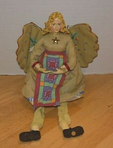 Catw Folk Angel Shelf Sitter Country Mantel Decoration Christmas Or Anytime