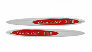 New Trim Parts 3100 Front Fender Emblem Pair For 1957 Chevy Pickup Truck 9050