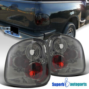 For 1997 2003 Ford F150 F 150 Flareside Smoke Tail Lights Rear Brake Lamps Pair