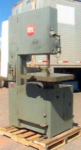 Grob 24 Vertical Band Saw Type Ns24 Metal wood Cutting Speeds 50 2030 Fpm Indus