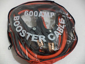 Heavy Duty 4 Ga Wire 10 Ft 600 Amp Copper Parrot Jaws Booster Jumper Cable Bag