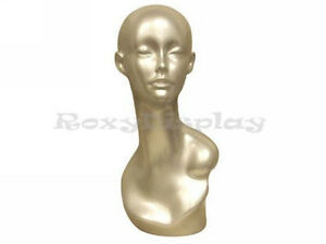 Female Mannequin Egg Head Bust Wig Hat Jewelry Display md tinas