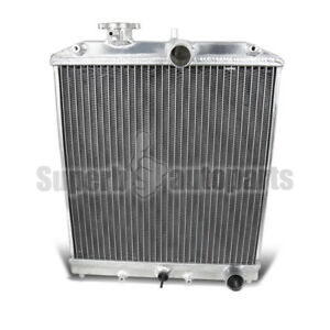 For 1992 2000 Honda Civic Del Sol 2 Row Racing Radiator B16 B18 Manual Trans