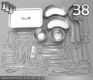 38 Piece Appendectomy And Hernia Set General Surgery Medical Instruments Ds 956