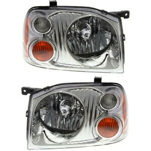Headlight Set For 2001 2004 Nissan Frontier Base Xe Left Right 2pc