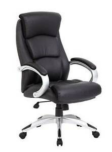 Boss Executive Chair Black With Chrome