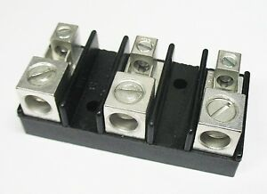 100 Power Distribution Blocks 3 Pole 1 0 14 Awg With 2 push On Blades Ul Usa