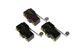 3 Lot Temco Heavy Duty 15a Micro Limit Switch Roller Lever Arm Spdt Snap Action