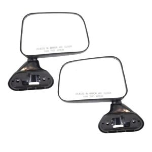 Mirror Set For 1989 1995 Toyota Pickup Manual Folding Textured Black