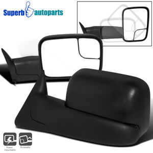 For 94 97 Dodge Ram 1500 2500 3500 Pickup Fold Out Power Towing Mirrors Pair