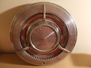 61 1961 Pontiac Bonneville Single 14 Inch Flipper Wheel Cover Hubcap 3 Bar