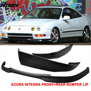 Fits 94 97 Acura Integra 2dr Coupe Type R Style Pp Front Abs Rear Bumper Lip