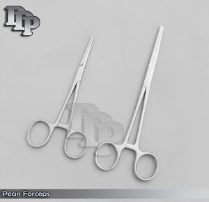 New 2pc Set 7 8 Straight Hemostat Forceps Locking Clamps Stainless Steel
