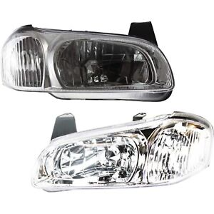 Headlight Set For 2000 2001 Nissan Maxima Left And Right With Bulb 2pc
