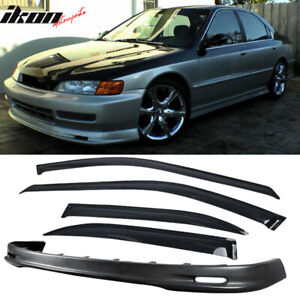 Fits 96 97 Honda Accord 4dr Mugen Style Front Bumper Lip Sun Window Visor