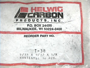 10 New Carbon Motor Brushes Helwig T 38 Thick 7 32 Width 9 32 Length 5 8