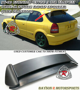 Tr style Rear Roof Spoiler Wing abs Plastic Fits 96 00 Honda Civic 3dr