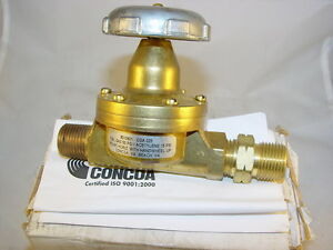 Concoa 8010601 Fuel Gas Station Valve 1 2 Mpt Inlet C 7 8 14 Rh Outlet 801 0601