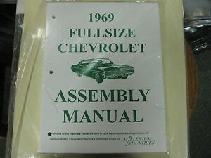 1969 Fullsize Chevy Caprice Impala Belair Bisc all Models Assembly Manual