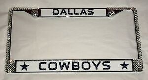 Dallas Cowboys Football Bling License Plate Frame Made With Swarovski Crystal