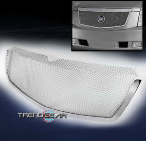 2007 2013 Cadillac Escalade Front Upper Stainless Steel Mesh Grille Grill Chrome