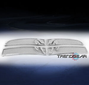 For 2005 2010 Charger Main Upper Symbolic Stainless Steel Mesh Grille Insert Fits 2010 Dodge Charger
