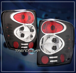 For 1999 2004 Jeep Grand Cherokee Tail Brake Lights Rear Lamps Black 2000 2001