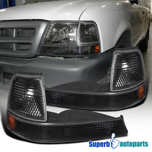 For 1998 2000 Ford Ranger Turn Signal Corner Parking Lights Black