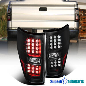 For 2009 2014 Ford F150 Pickup Led Brake Lamps Tail Lights Black