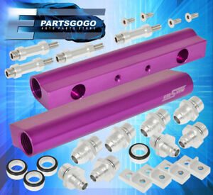 02 07 Subaru Impreza Wrx Sti Fuel Rail Ej20 Ej25 Cnc Aluminum Assembly Purple